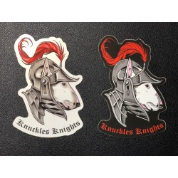 Knuckles Knights Sticker